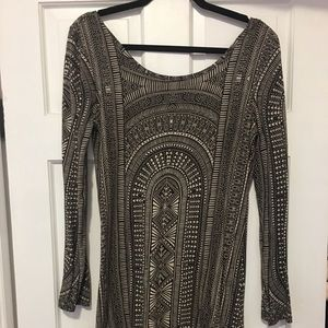 BILLABONG low back cotton tribal dress